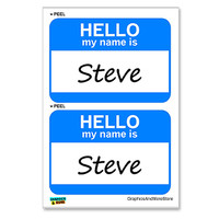Steve Hello My Name Is - Sheet of 2 Stickers