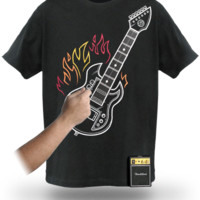 Electronic Rock Guitar Shirt - Black,
