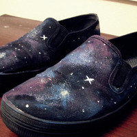 Glitter Galaxy/Nebula Shoes by Pschawhoo on Etsy