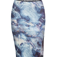 SHADE Midi Skirt / Blue Marble