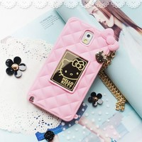 Hello Kitty Mirror Bag Mobile Case for Galaxy Note 4