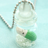 happy pill necklace