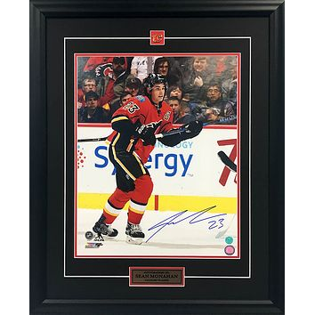 SEAN MONAHAN AUTOGRAPHED FRAMED COLLECTOR PHOTO - 16X20 - CALGARY FLAMES