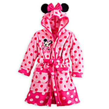 Minnie Mouse Plush Robe for Girls - Personalizable