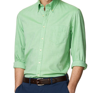 Yale Archive Oxford Solid Regular Button Down