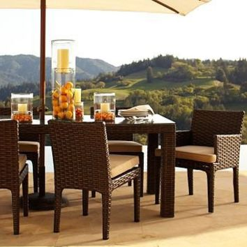 Corisca All-Weather Wicker Dining Table & Set | Pottery Barn
