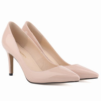 Fashion Pointed Middle High Heels Shallow Shoes