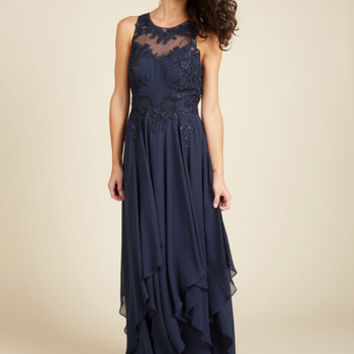 Advocate of Extravagance Maxi Dress in Navy | Mod Retro Vintage Dresses | ModCloth.com