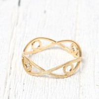 Wanderlust + Co Multi Evil Eye Ring - Womens Jewelry - Gold - 7