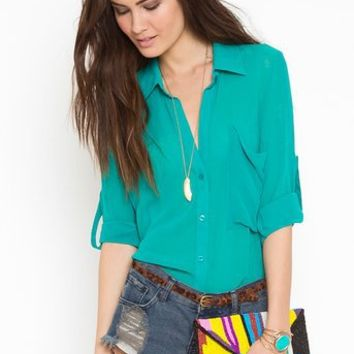 Buttoned Up Blouse in What's New at Nasty Gal