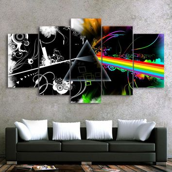 Pink Floyd Wall Art Panel Picture Print on Canvas Home Decor