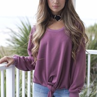 Fine As Wine Rose Cropped Sweatshirt