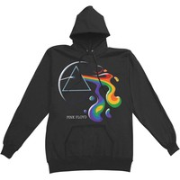 Pink Floyd Men's  Melting Prism Hoodie Hooded Sweatshirt Black
