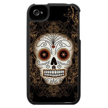 Vintage Sugar Skull Speck iPhone 4 Case from Zazzle.com