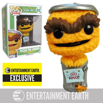 Sesame Street Oscar the Grouch Orange Debut Pop! Vinyl Figure - Entertainment Earth Exclusive