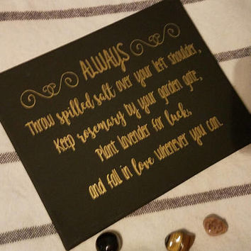 Practical Magic Quote Canvas | Witch Home Decor | Wicca | Pagan | Wiccan | Wicca Canvas |  Halloween Canvas | Witch Canvas
