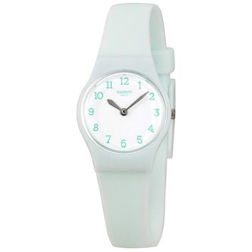 Swatch Greenbelle White Dial Ladies Plastic Watch LG129