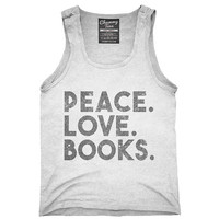 Peace Love Books T-Shirt, Hoodie, Tank Top, Gifts