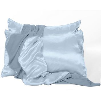 Satin Charmeuse Pillowcases Set of 2: Standard, Queen, King Size