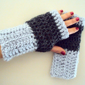 FINGERLESS GLOVES Crochet Chunky Gloves Knit Mittens Men Women Winter Accessories Valentine's Day Gift Ideas Choose Your Color