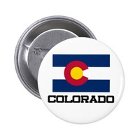 Colorado Flag Pinback Button