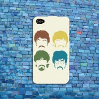 Retro Cute Beatles iPhone Case Cool Music Phone Cover John Lennon Ringo Star Case iPhone 4 iPhone 5 iPhone 4s iPhone 5s iPhone 5c Case