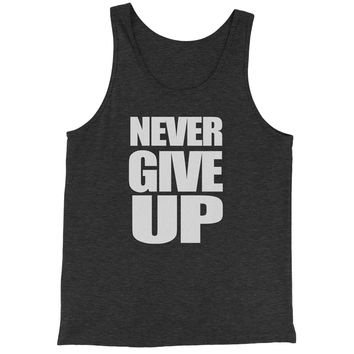 Never Give Up  Jersey Tank Top for Men