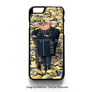 Minions And Gru for iPhone 4 4S 5 5S 5C 6 6 Plus , iPod Touch 4 5  , Samsung Galaxy S3 S4 S5 Note 3 Note 4 , and HTC One X M7 M8 Case Cover