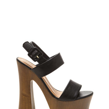 High Tempo Faux Leather Heels