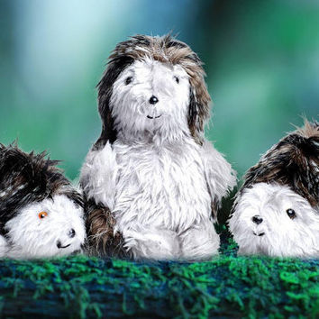 Hedgehog Family Daddy Hedgehog Mommy Hedgehog Baby Hedgehog Saving UK Hogs Campaign Black and White Fleck Companion Toy Christmas Present
