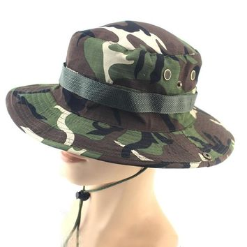 a77be31f04f 1 pc Fishing Hiking Boonie Snap Brim Military Bucket Wide Brim S