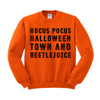 Favorite Halloween Movies Crewneck Sweatshirt