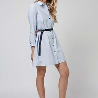 Ticking Stripe Shirt Dress