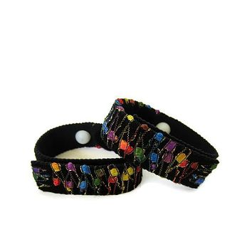 Anti-Nausea/Motion Sickness Bracelets (pair) Rainbow