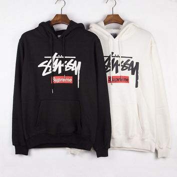 Stussy Casual Hoodie Long Sleeve Drawstring Top Sweater Sweatshirt