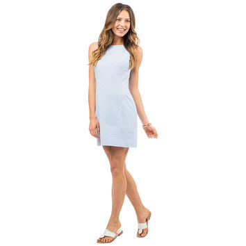 Belmont Seersucker Dress in Boat Blue by Southern Tide - FINAL SALE