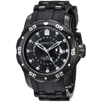 Invicta Men's 6996 Pro Diver Quartz GMT Black Dial Watch