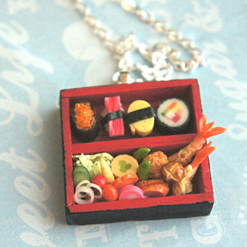 sushi bento necklace
