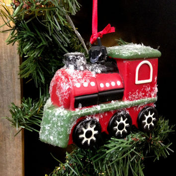 Vintage Transportation Holiday Christmas Tree Ornament - 5-in (Train Locomotive)