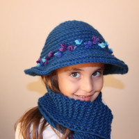 Girls Hat Fedora Knit Hat Kids Hat and Scarf Set Mom And Daughter Hat Scarf Set Toddler Hat EXPRESS SHIPPING