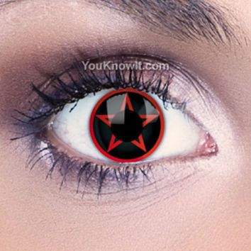 Red Pentagram Contact Lenses   Coloured Contact Lenses