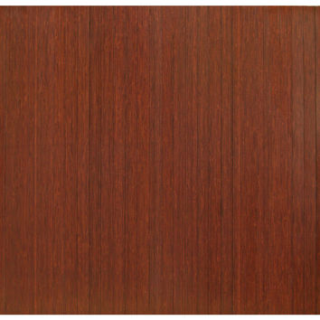 "Bamboo Dark Cherry Standard Roll-Up Chairmat, 52"" x 48"", no lip"