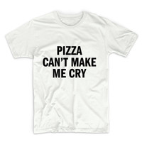 Pizza Can't Make Me Cry Graphic Tshirt, Graphic Tee, Womens Graphic Tee, Womens Graphic Tshirt