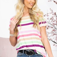 Chelsey Rainbow Striped Top