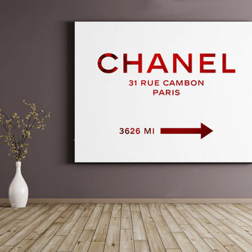 Fashion Print,COCO CHANEL Quote,Chanel Print Chanel 31 Rue Cambon,Fashionista,Office Decor,Home Decor,Girls Room Deco,Typography Poster