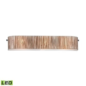 19066/3-LED Modern Organics 3 Light LED Vanity In Polished Chrome