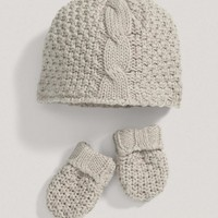 Unisex Welcome To The World Neutral Hat And Mitts Set