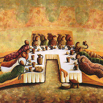 """""""The Lord's Last Supper"""" Open Edition (Offset Lithograph) *** $pecial Offer ***"""