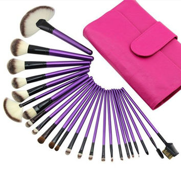 24-pcs Pale Violet Makeup Brush Sets Luxury Make-up Tools [4918365252]
