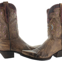 Dan Post Womens Stars & Moons Western Cowboy Boots Leather